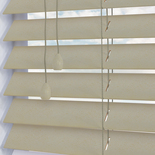 Ganges Decorative 50mm Stone Eggshell White and Cream 50mm Wooden Blinds