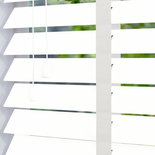 Gloss 50 Taped White White and Cream 50mm Wooden Blinds