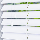 Gloss 50 Pure Brilliant White White and Cream 50mm Wooden Blinds