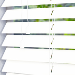Gloss 50 White White and Cream 50mm Wooden Blinds