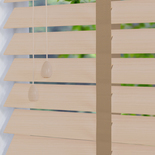 Hollywood Faux 50 Taped Lime White White and Cream 50mm Wooden Blinds