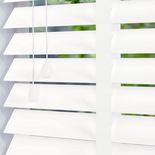 Hollywood Faux 50 Taped Pure White White and Cream 50mm Wooden Blinds