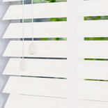 Hollywood Faux 50 Taped Silk White White and Cream 50mm Wooden Blinds