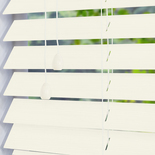 Hollywood Faux 50 Pearl White and Cream 50mm Wooden Blinds
