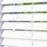 Hollywood Faux 50 Pure White White and Cream 50mm Wooden Blinds