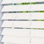 Hollywood Faux 50 Silk White White and Cream 50mm Wooden Blinds