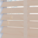Impressions Fauxwood 50 Taped Calico White and Cream 50mm Wooden Blinds