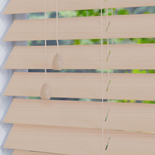 Impressions Fauxwood 50 Calico White and Cream 50mm Wooden Blinds