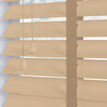 Mississippi 50 Taped Ivory White and Cream 50mm Wooden Blinds