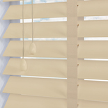 Mississippi 50 Taped Magnolia White and Cream 50mm Wooden Blinds