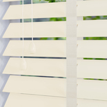 Mississippi 50 Taped Pearl White White and Cream 50mm Wooden Blinds