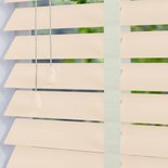 Mississippi 50 Taped Snow - Off White White and Cream 50mm Wooden Blinds