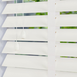 Mississippi 50 Taped Soft White White and Cream 50mm Wooden Blinds