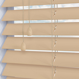 Mississippi 50 Ivory White and Cream 50mm Wooden Blinds