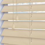 Mississippi 50 Magnolia White and Cream 50mm Wooden Blinds