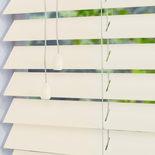Mississippi 50 Pearl White White and Cream 50mm Wooden Blinds