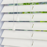 Mississippi 50 Soft White White and Cream 50mm Wooden Blinds