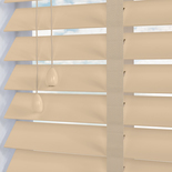 Nile 50 Taped Cream White and Cream 50mm Wooden Blinds