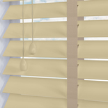 Nile 50 Taped Oyster White and Cream 50mm Wooden Blinds