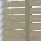 Nile 50 Taped Putty White and Cream 50mm Wooden Blinds