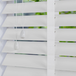 Nile 50 Taped White White and Cream 50mm Wooden Blinds