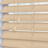 Nile 50 Cream White and Cream 50mm Wooden Blinds