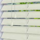 Nile 50 Pearl White White and Cream 50mm Wooden Blinds