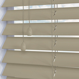 Nile 50 Putty White and Cream 50mm Wooden Blinds