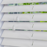 Nile 50 White White and Cream 50mm Wooden Blinds