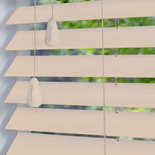 Privacy 50 Lime White White and Cream 50mm Wooden Blinds