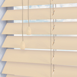 Santa Fe Gloss 50mm Cloud White and Cream 50mm Wooden Blinds