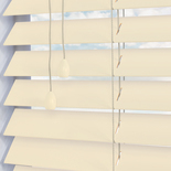 Santa Fe Gloss 50mm Eggshell White and Cream 50mm Wooden Blinds