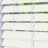 Santa Fe Gloss 50mm Soft White White and Cream 50mm Wooden Blinds