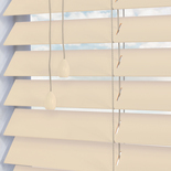 Santa Fe Matte 50mm Cloud White and Cream 50mm Wooden Blinds