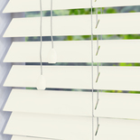 Santa Fe Matte 50mm Soft White White and Cream 50mm Wooden Blinds