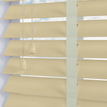 Zambezi 50 Taped Ivory White and Cream 50mm Wooden Blinds