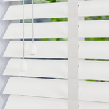 Zambezi 50 Taped Polar White White and Cream 50mm Wooden Blinds