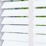 Zambezi 50 Taped Pure White and Cream 50mm Wooden Blinds