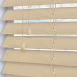Zambezi 50 Ivory White and Cream 50mm Wooden Blinds