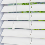 Zambezi 50 Polar White White and Cream 50mm Wooden Blinds