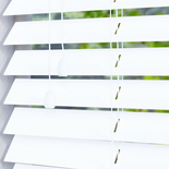 Zambezi 50 Pure White and Cream 50mm Wooden Blinds