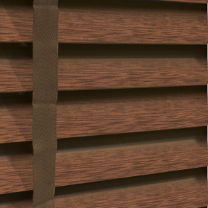 Amazon 50 Taped Wooden Blind In Fired Walnut Quality