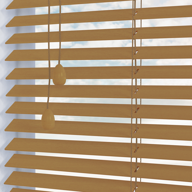 nile 25 wooden blind in natural quality made to measure