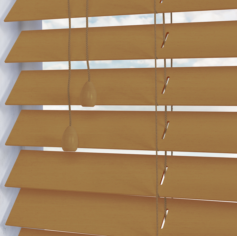 Nile 50 Wooden Blind in Natural - Quality Made to Measure Wooden ...