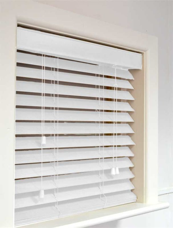 Nile 63 Wooden Blind In White Quality Made To Measure