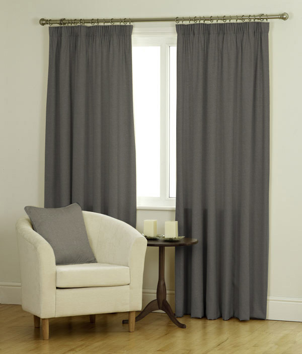 Ambassador Faux Suede Curtains Blind In New Grey Quality