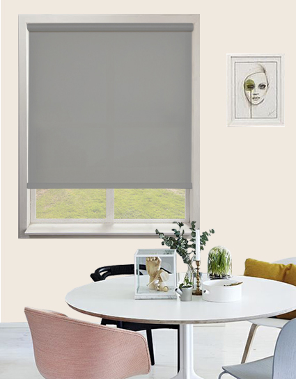 how to utilise a small bedroom atlantex solar roller blind in silver quality made to 20591