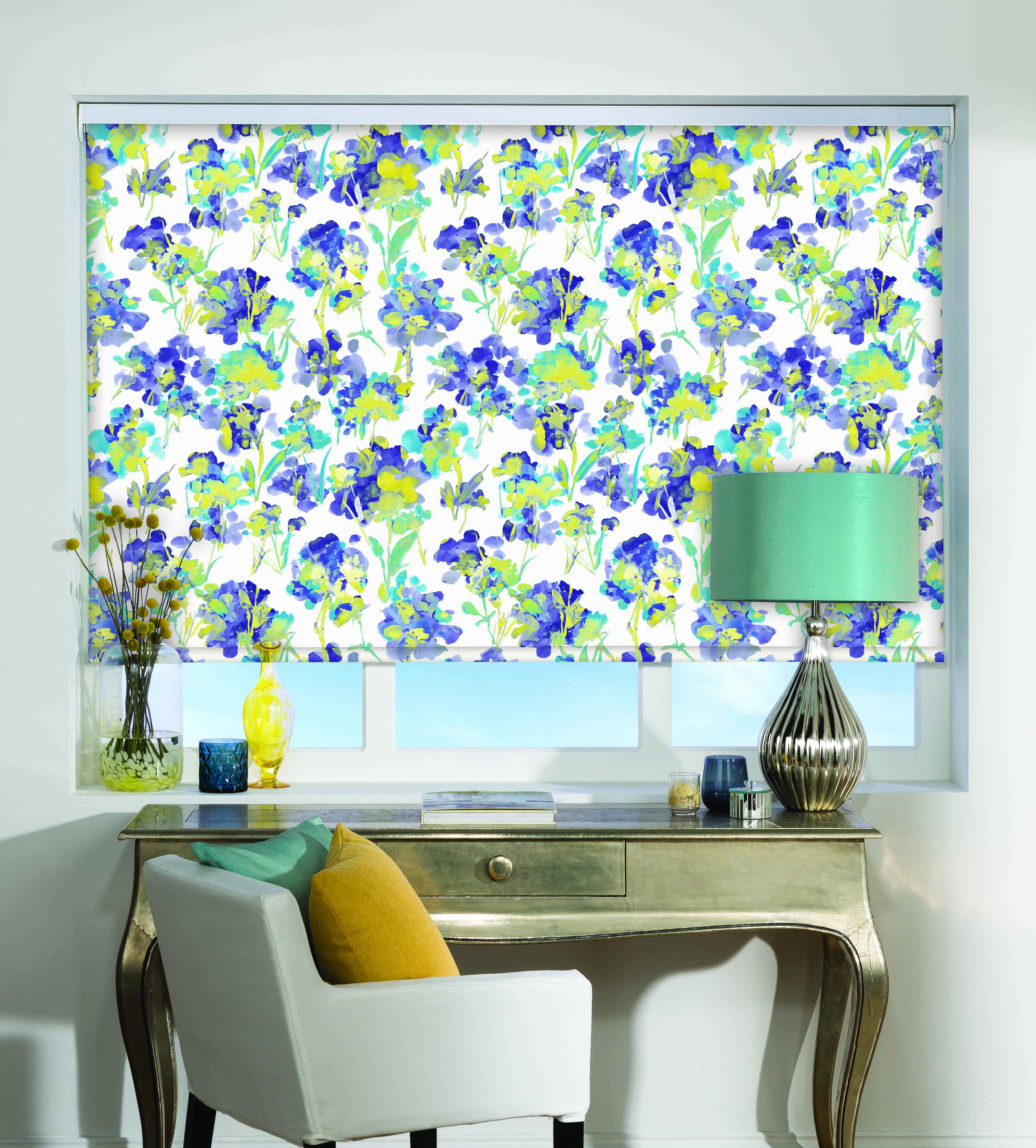 Liberty Roller Blind In Azure Quality Made To Measure