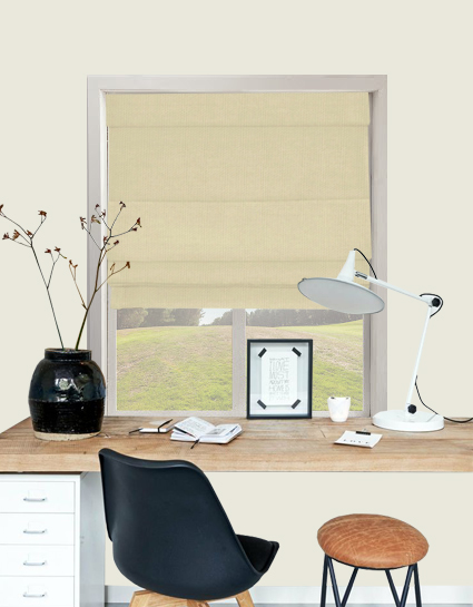 Panama Popular Roman Blind In Oatmeal Quality Made To