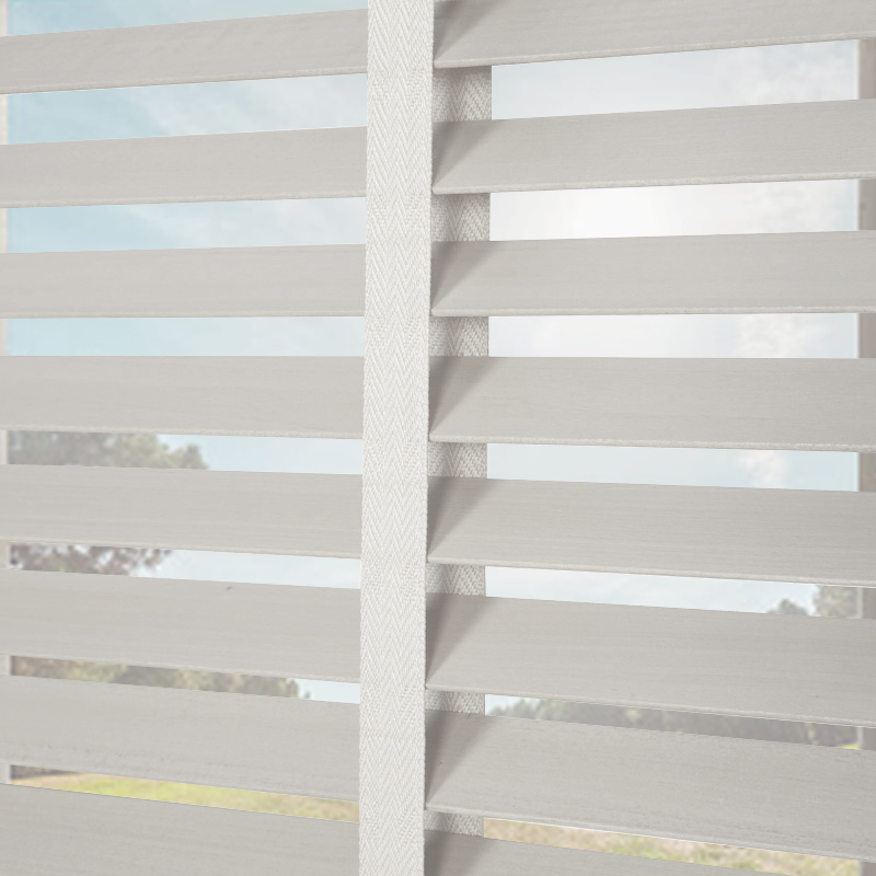 Nile 35 Taped Wooden Blind In Pearl White Quality Made